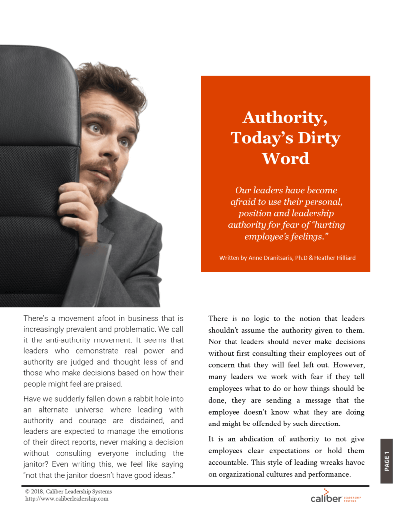 Authority today's dirty word article