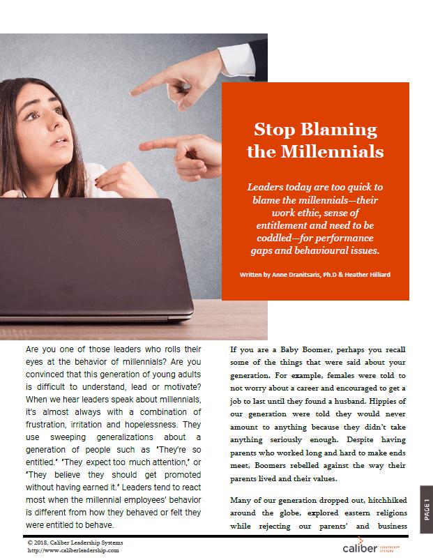 Stop Blaming the Millennials