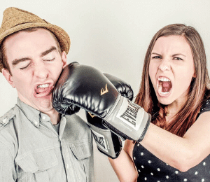 Working Together - Dysfunctional Organization - employees fighting